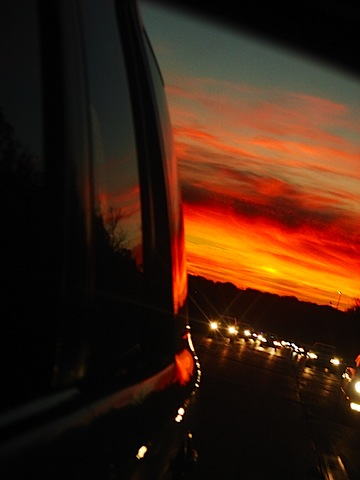 sunset driving car.JPG